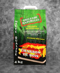 Charbon de Bois| sac de 4KG Grillade Naturelle